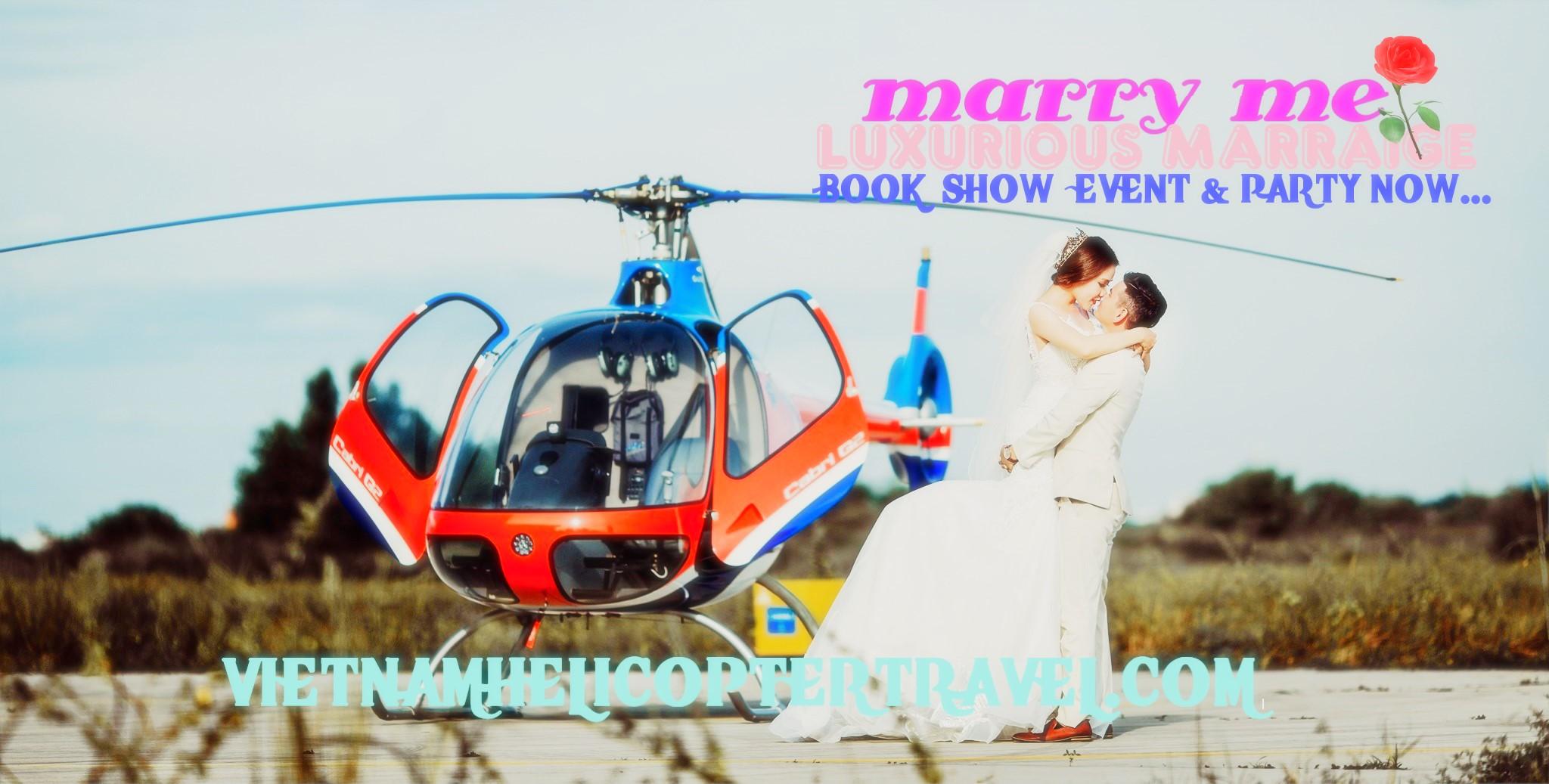Cho thuê trực thăng đám cưới, Dịch vụ trực thăng chụp ảnh cưới